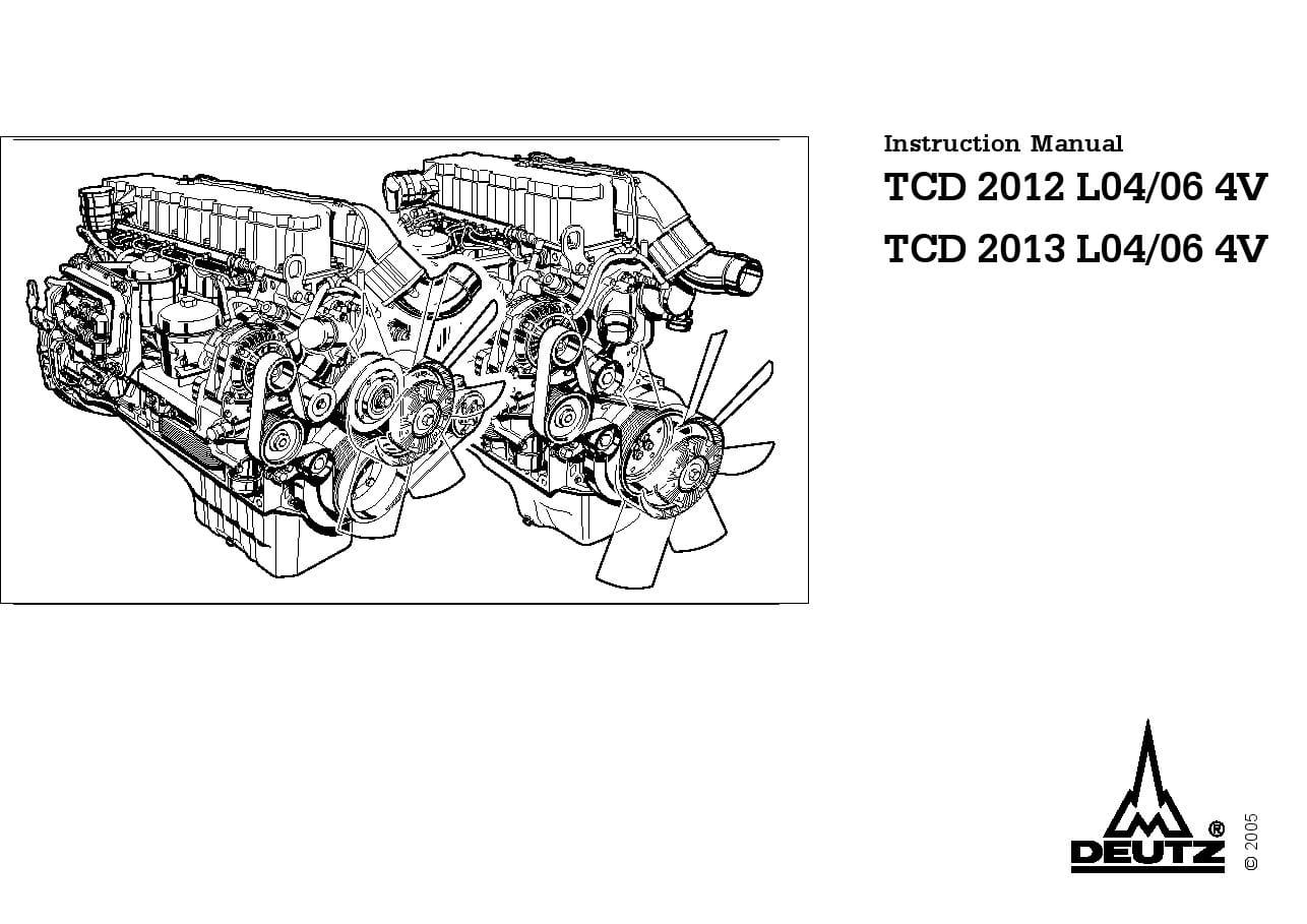 Deutz Instruction Manual TCD L04/06 4V PDF Download