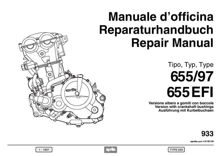 Aprilia Reparatie motor Rotax 655 EFI 1997 PDF Download