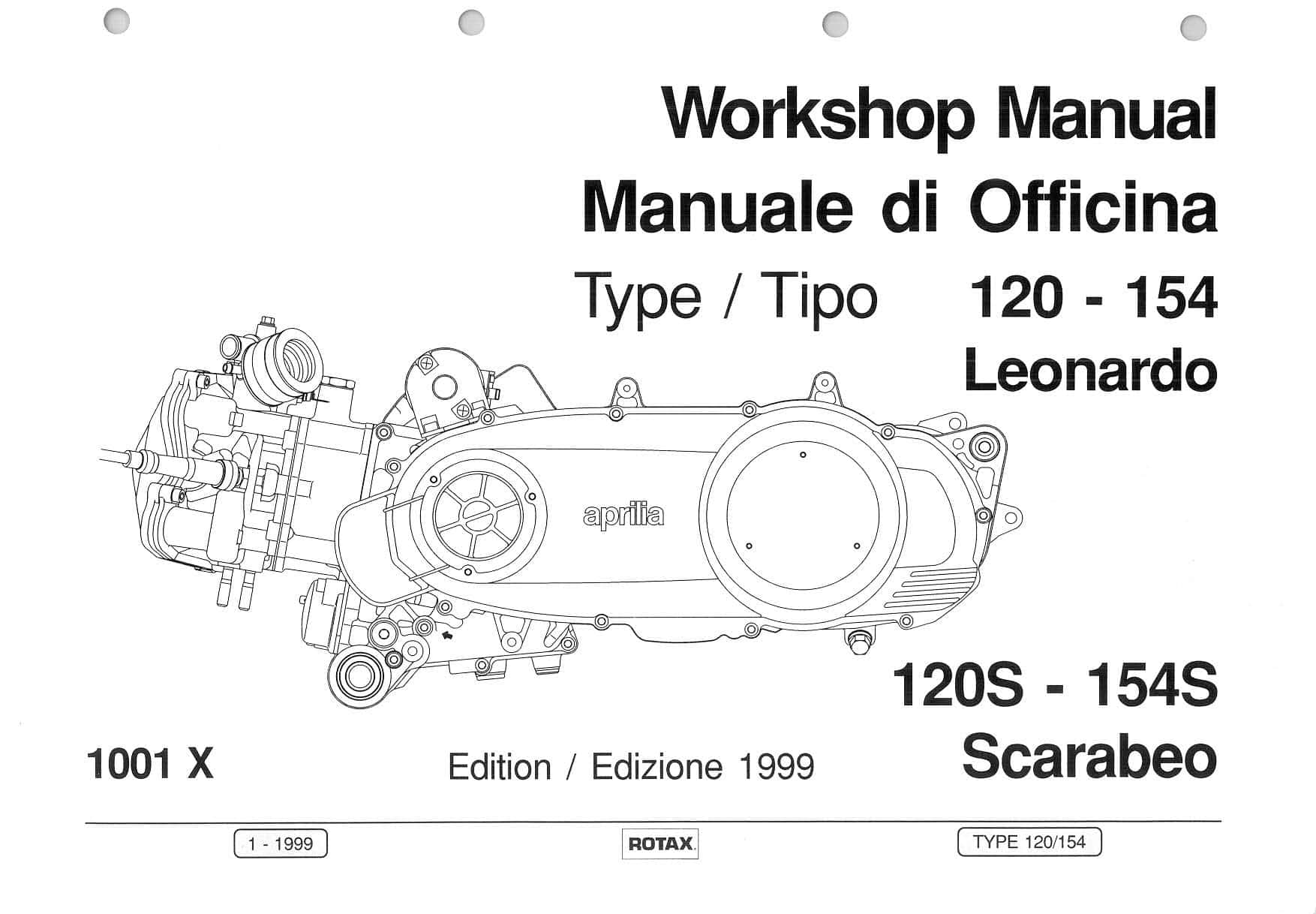 Aprilia Rotax 120 154 1999 service manual PDF Download
