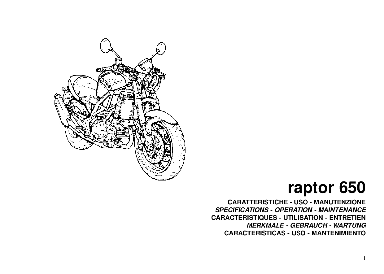 Cagiva Raptor 650 Manual de utilizare PDF Download