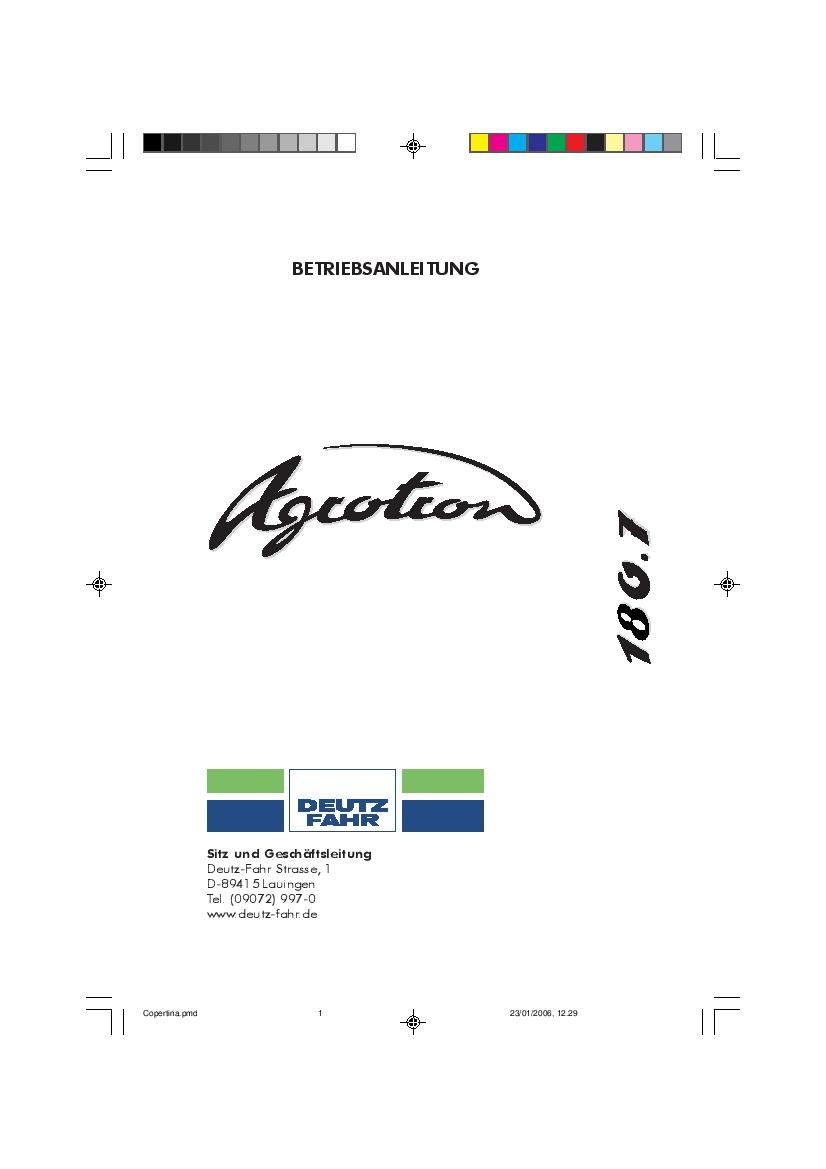 DEUTZ-FAHR AGROTRON 180.7 Deutsch User Manual PDF Download