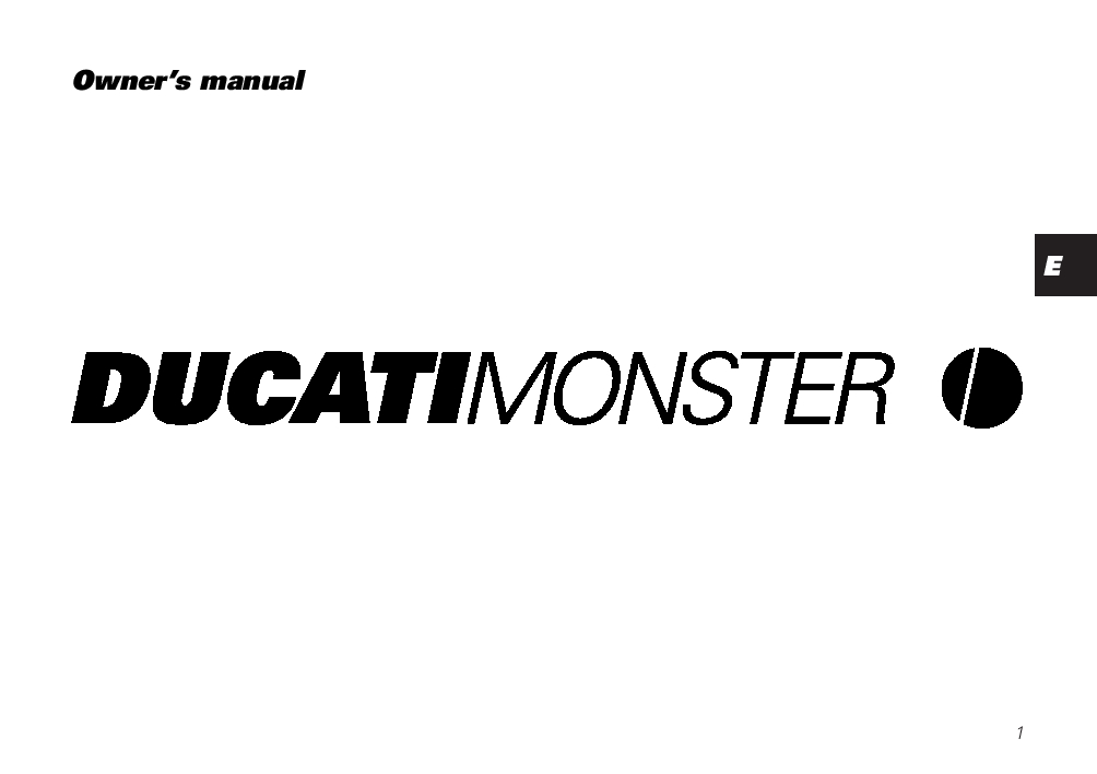 Ducati Monster 2000 owner s manual general PDF Download