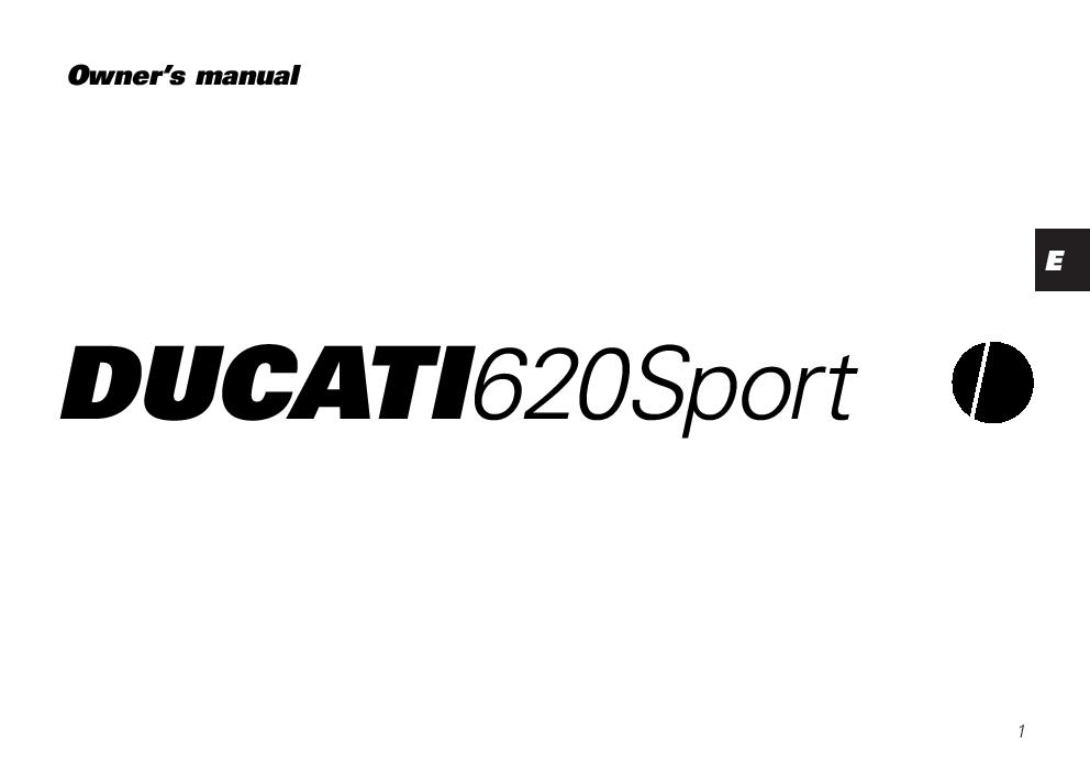 Ducati Monster 620 Sport owner s manual PDF Download