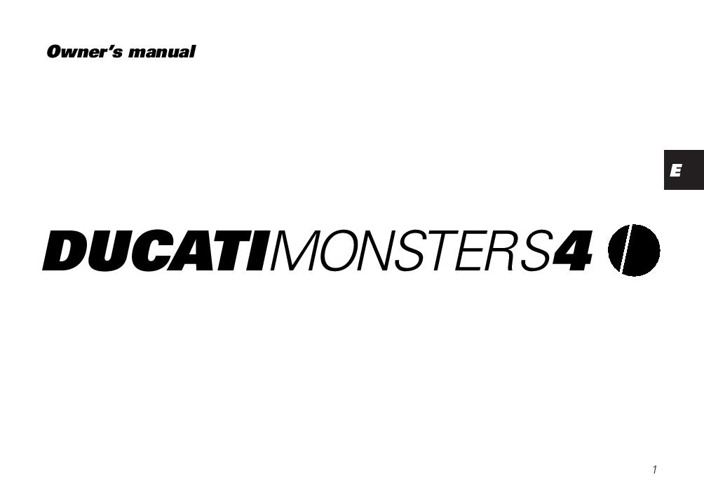 Ducati Monster S4 2001 owner s manual PDF Download