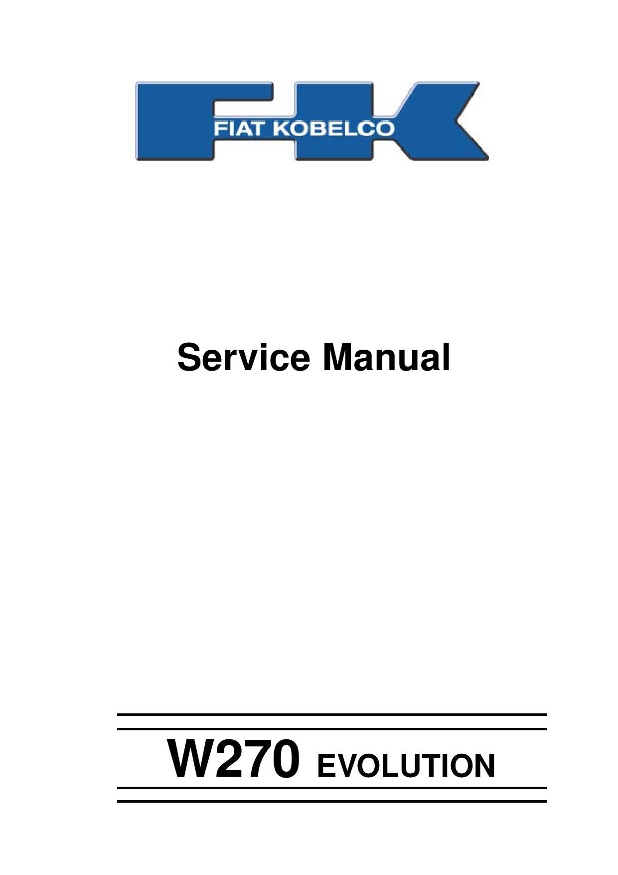 Fiat Kobelco W270 EVOLUTION WHEEL LOADER Service Manual