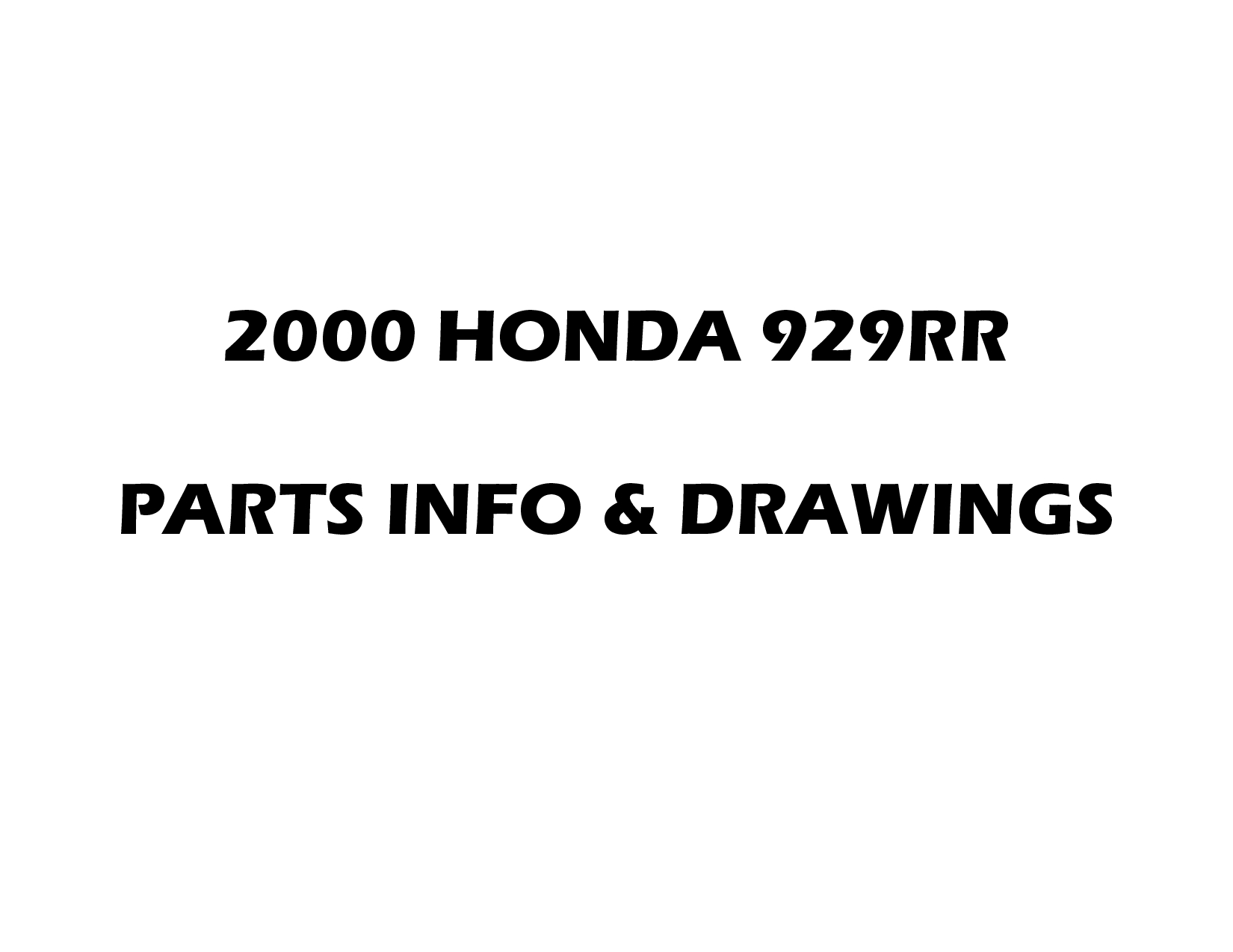 Honda CBR 929 Fireblade 2000 Parts List PDF Download