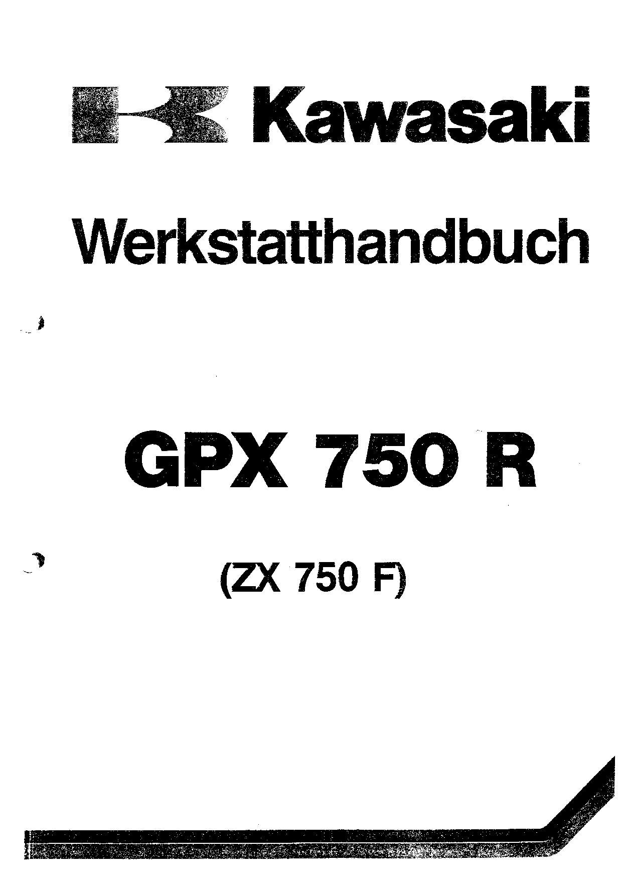 Kawasaki GPX 750 R ZX 750 F1 Service Manual PDF Download