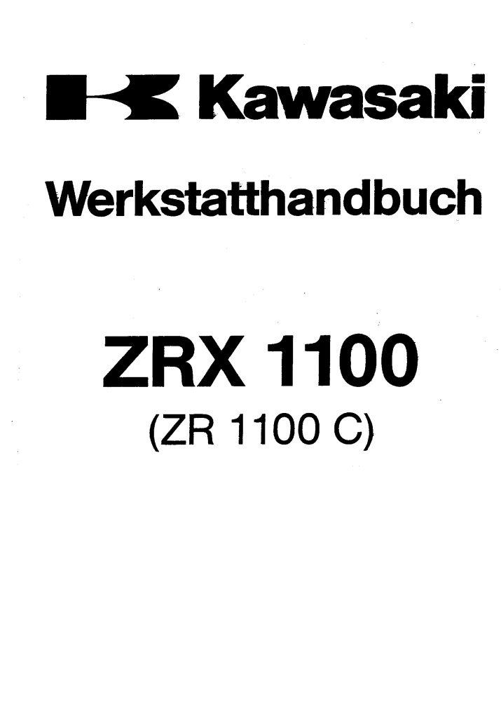 Kawasaki ZRX 1100 ZR 1100 C Repair Manual PDF Download