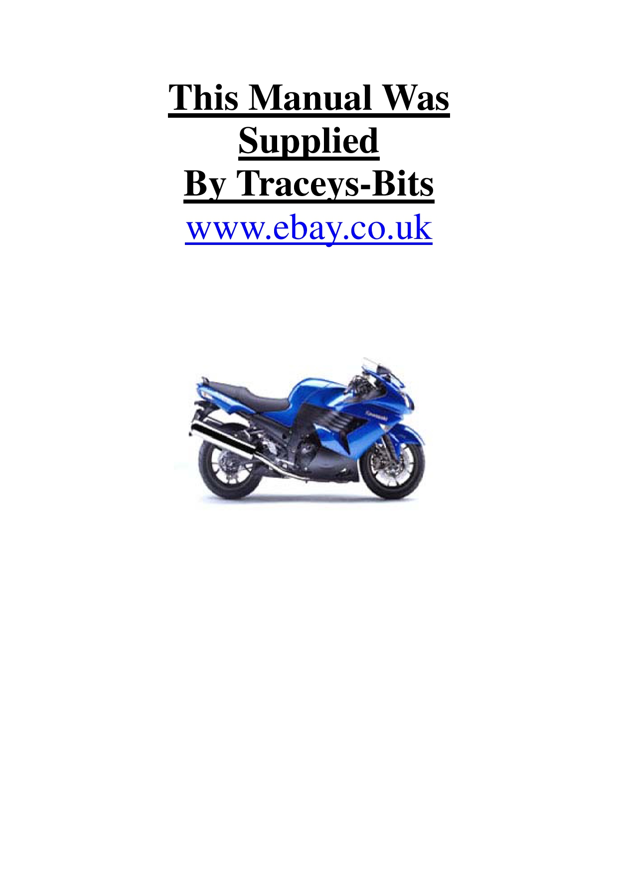 Kawasaki ZZR 1400 2006 Repair Manual PDF Download