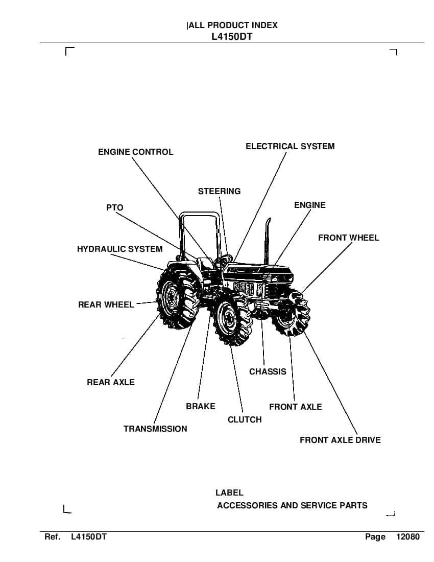Kubota L4150DT[1] tractor Part Manual PDF Download