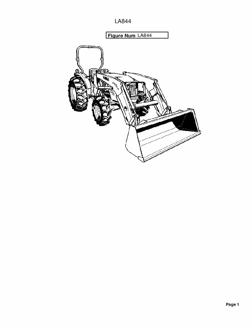 Kubota LA844[1] fits MX5100 4700 Part Manual PDF Download