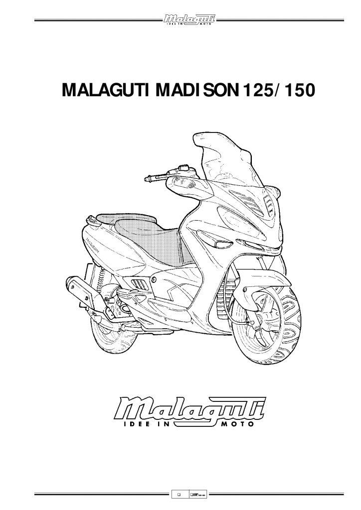 Malaguti Madison 125 150 Service Manual PDF Download