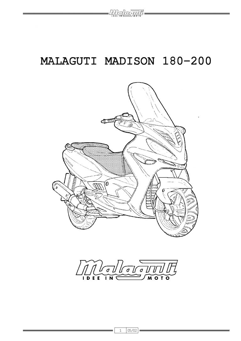 Malaguti Madison 180 200 Service Manual PDF Download