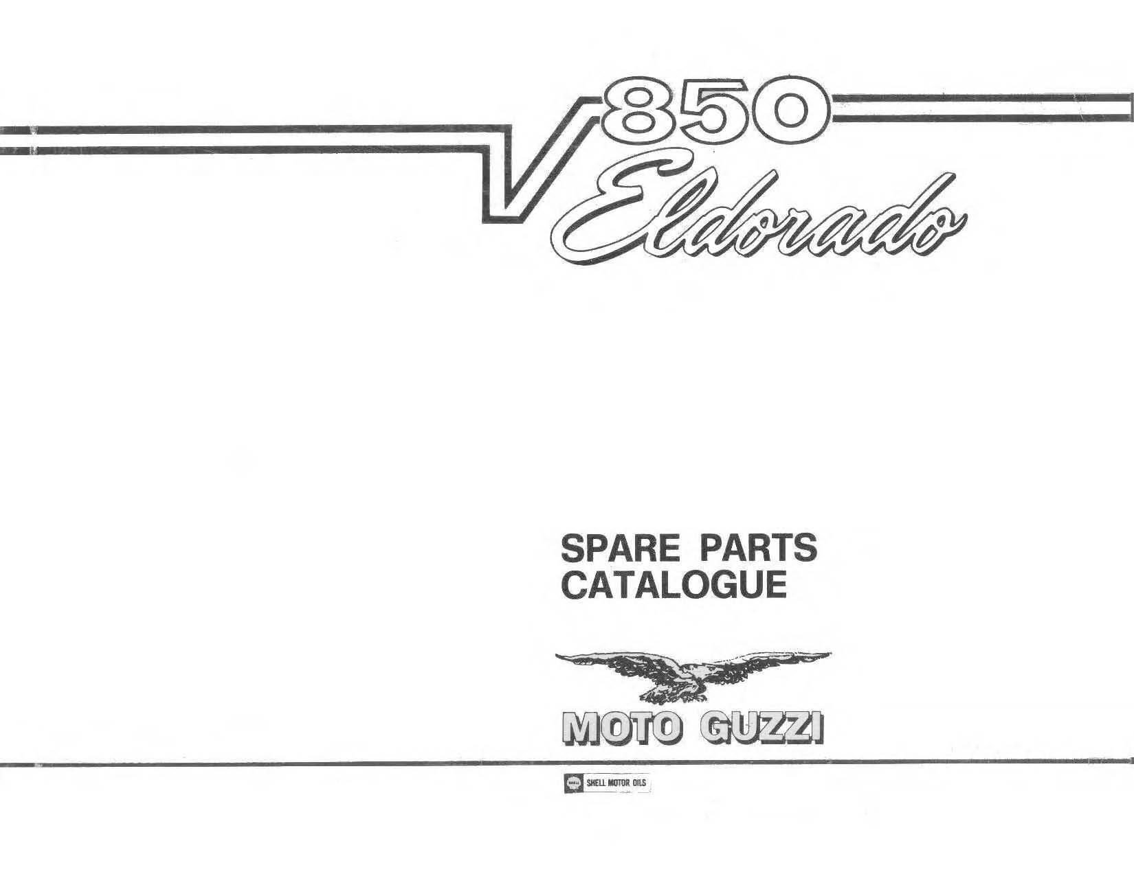 Moto Guzzi 850 Eldorado 1972 Parts List PDF Download