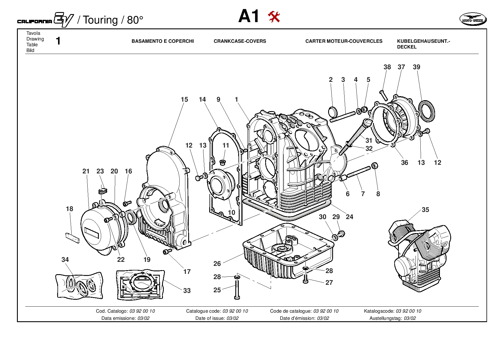 Moto Guzzi California EV Touring 80 2001 Parts List PDF