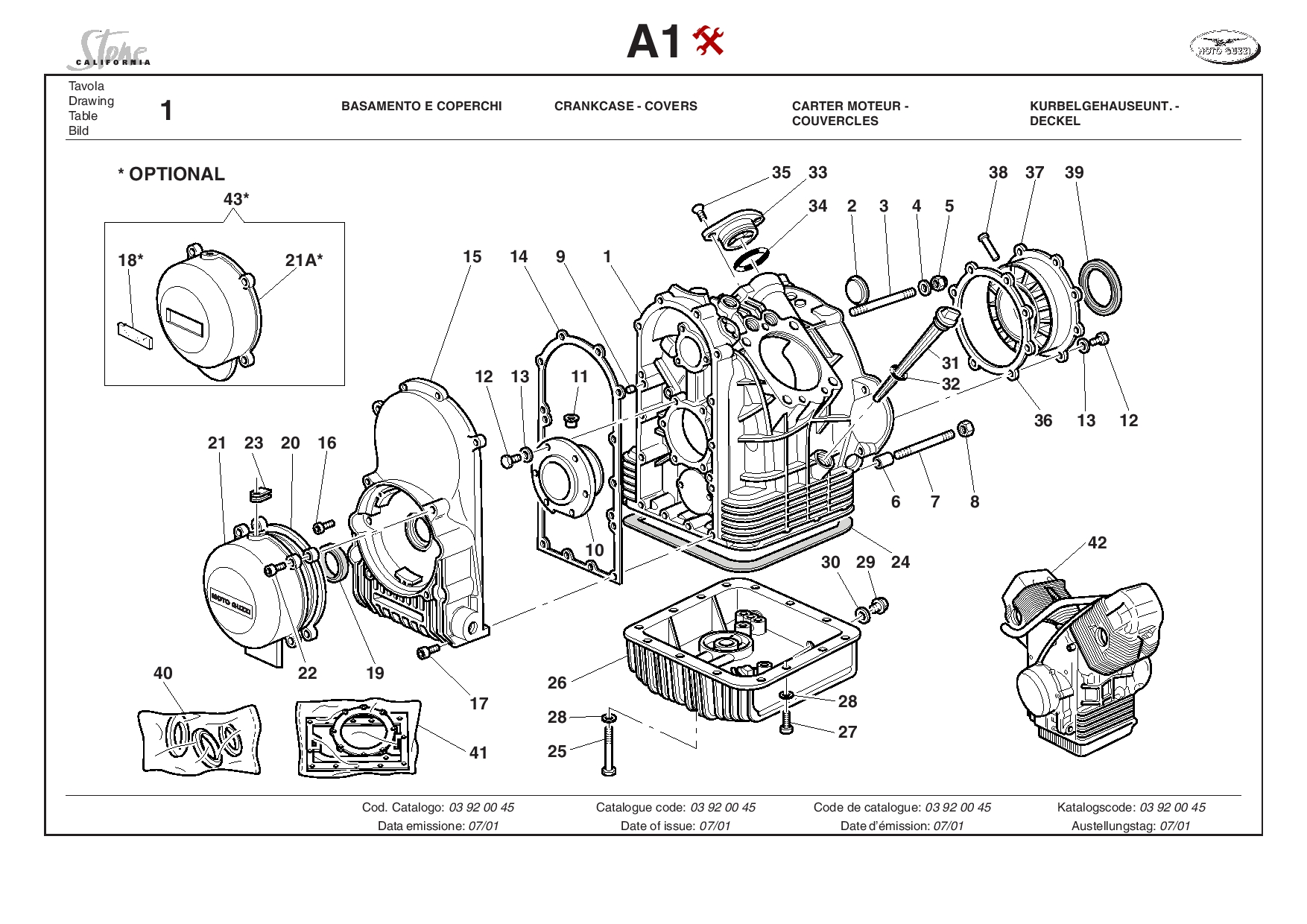 Moto Guzzi California Stone 2001 Parts List PDF Download