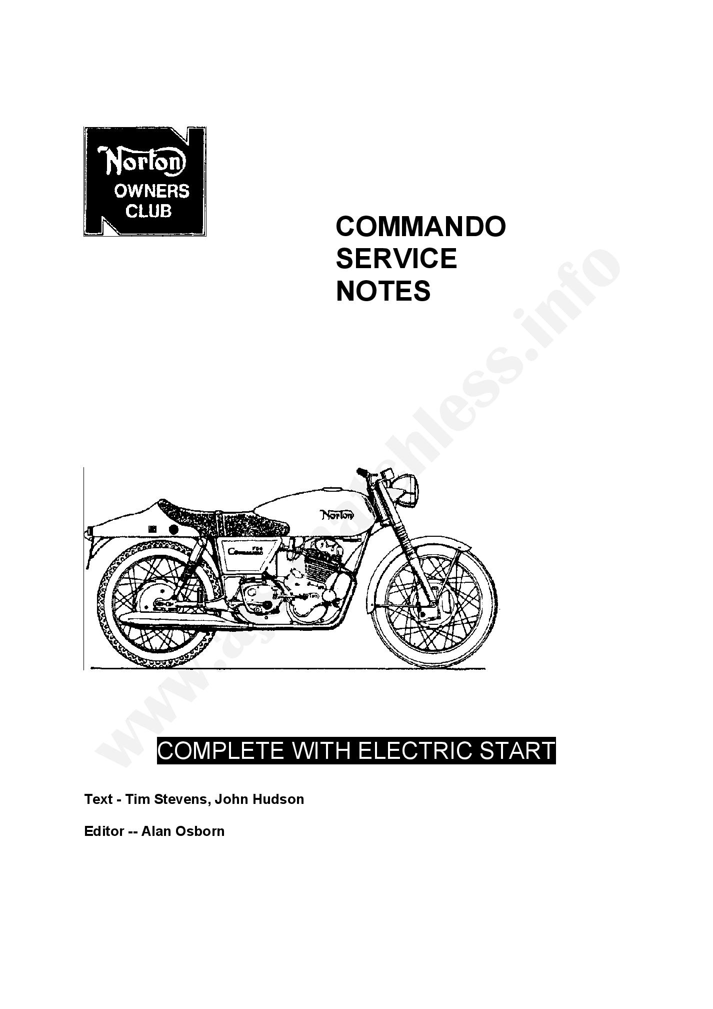 Norton Commando 750 Maintenance manual PDF Download