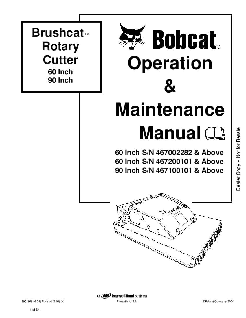 Bobcat brush saw 6904202 om 3-11 Operation and Maintenance