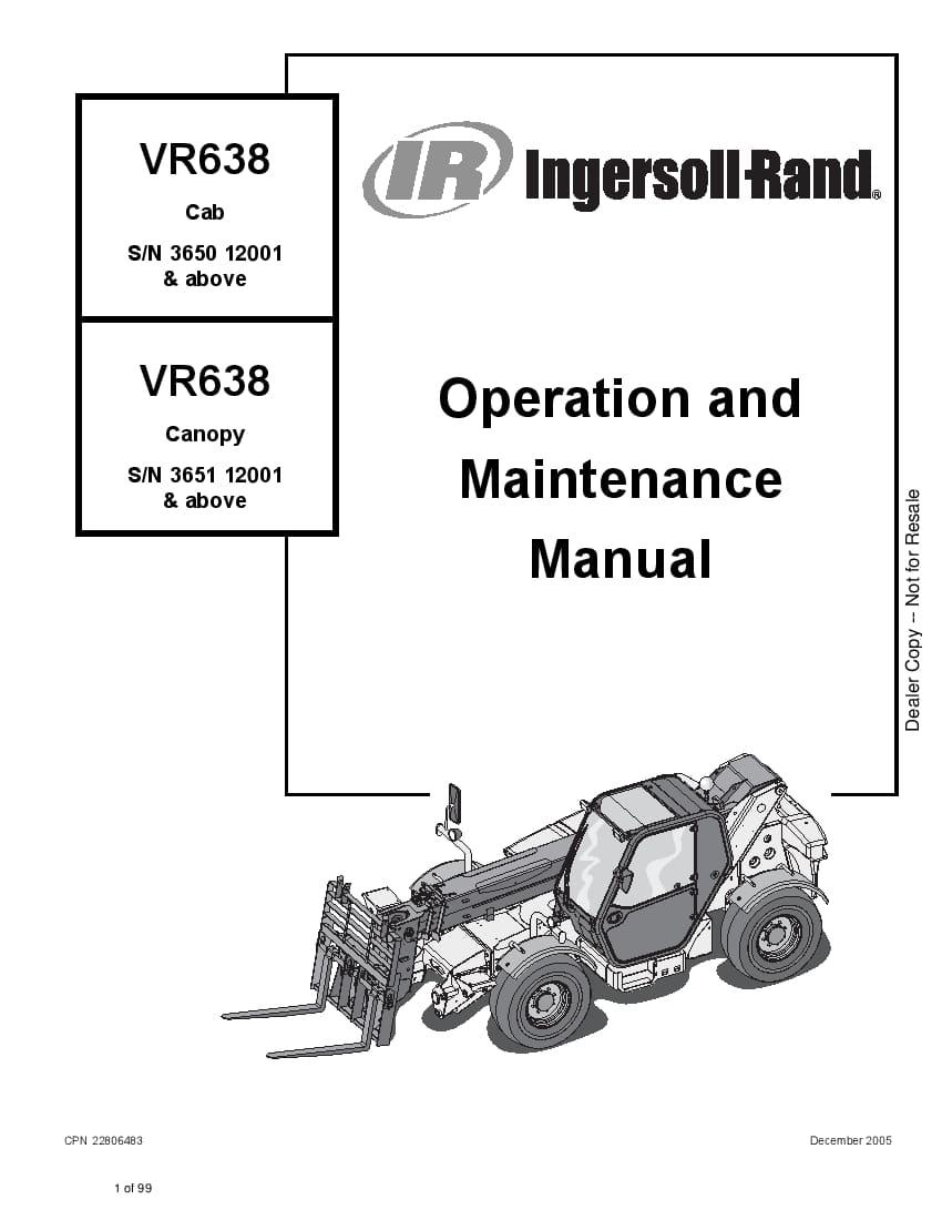 Bobcat vr638 22806483 om 12-05 Operation and Maintenance
