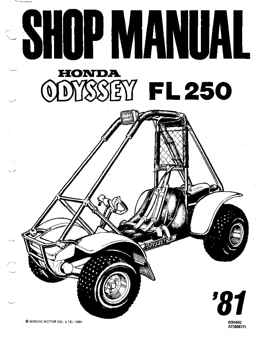 Honda Odyssey FL250 1981 Service Manual PDF Download