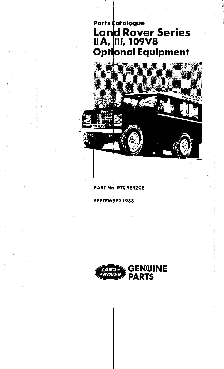 Land Rover Series III Optional Parts Catalogue PDF