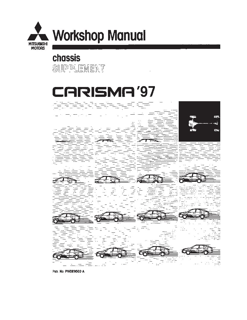 Mitsubishi Carisma 1996-2003 Full Repair Service Manual