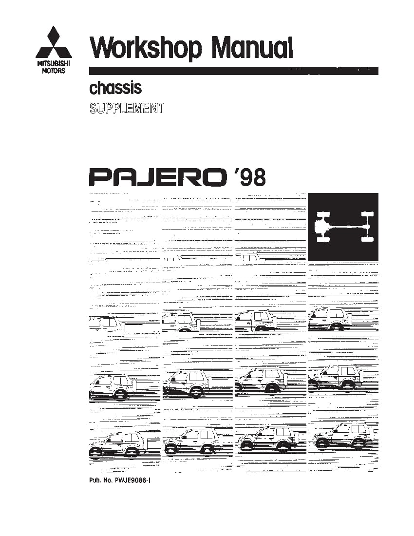 Mitsubishi Pajero 1991-1999 Full Repair Service Manual