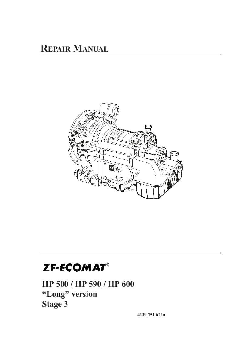 ZF Ecomat 5HP & 6HP Ecomat 500-590-600 LONG VERSION REPAIR