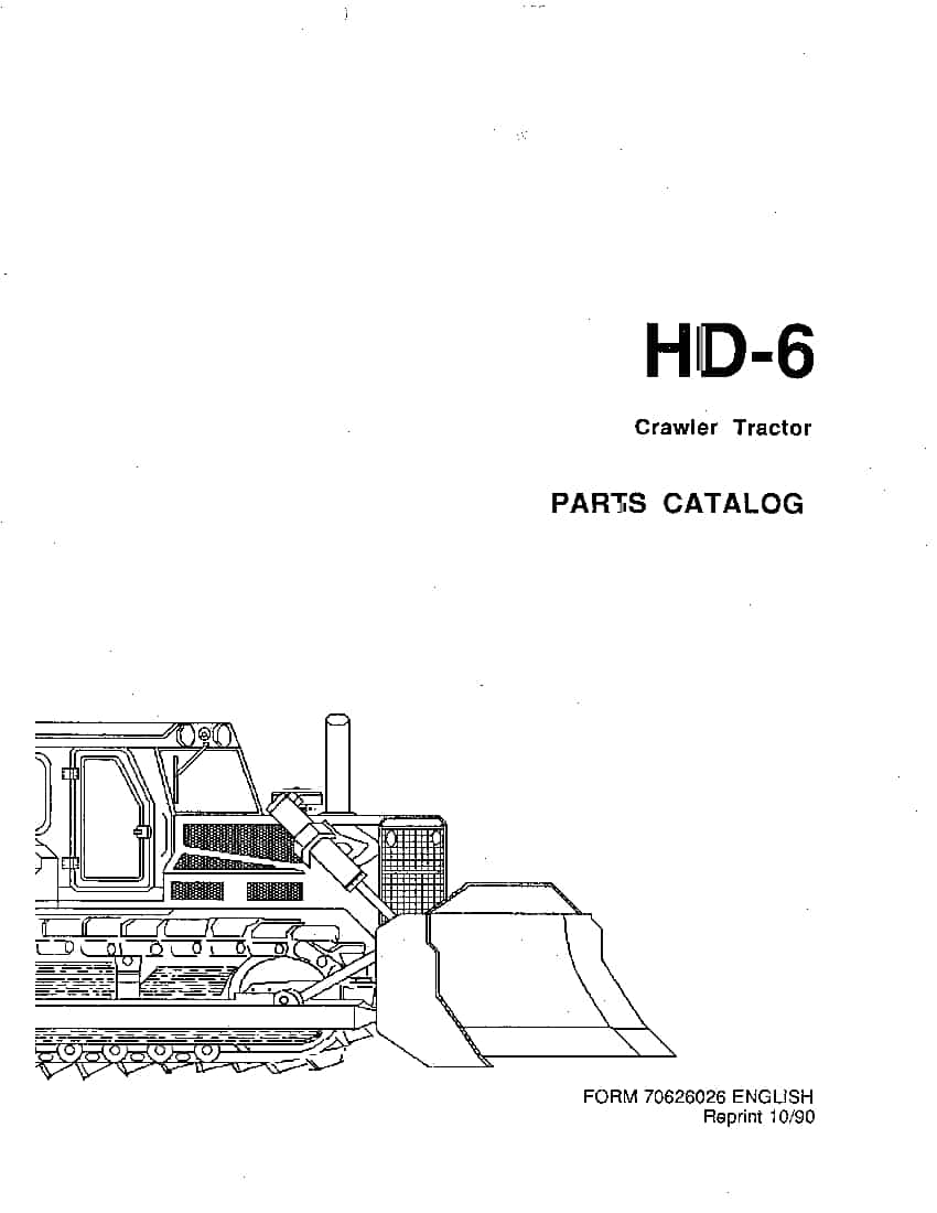 ALLIS CHALMERS FIATALLIS HD-6 PRIOR TO SN 13322 CRAWLER