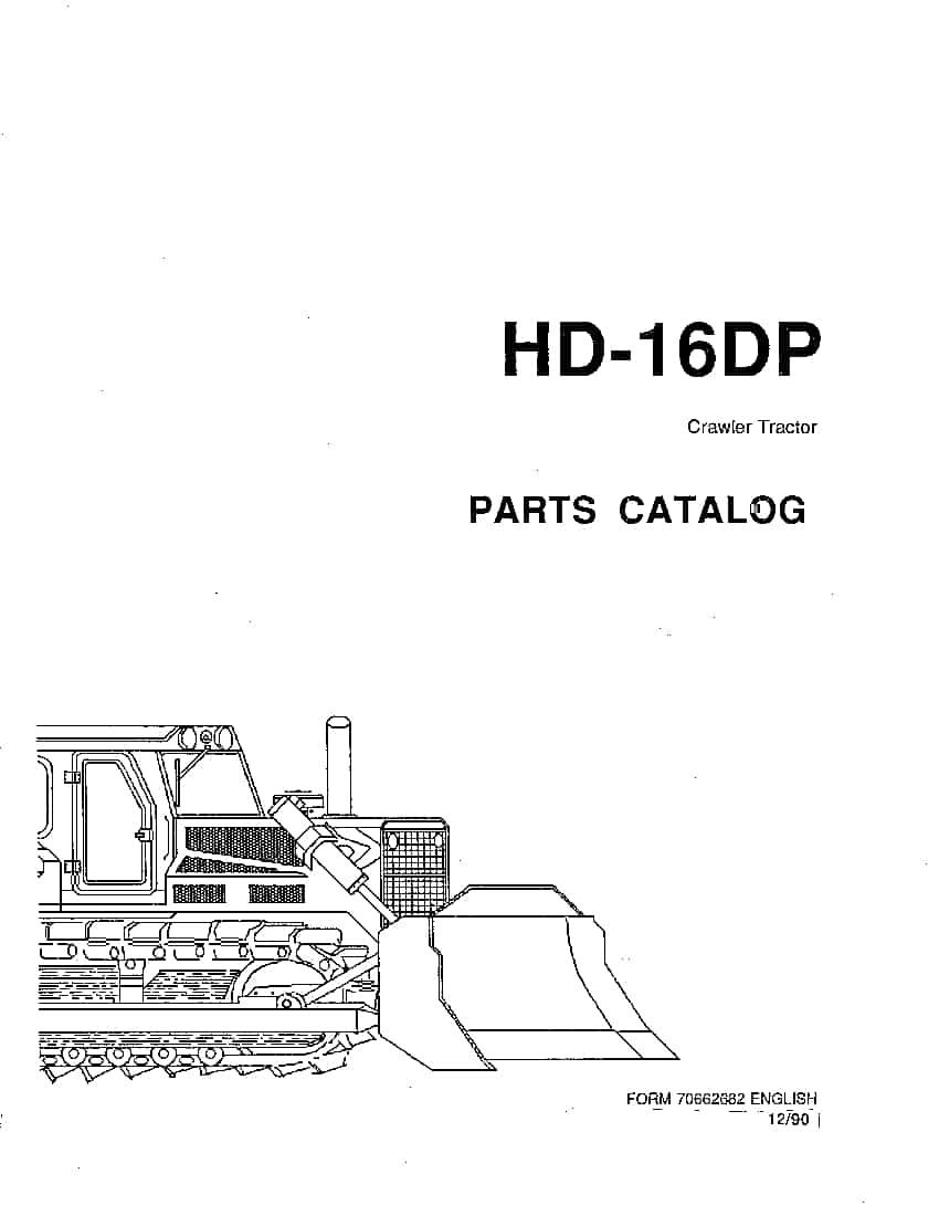 ALLIS CHALMERS FIATALLIS HD16DP PM 70662682 CRAWLER DOZER