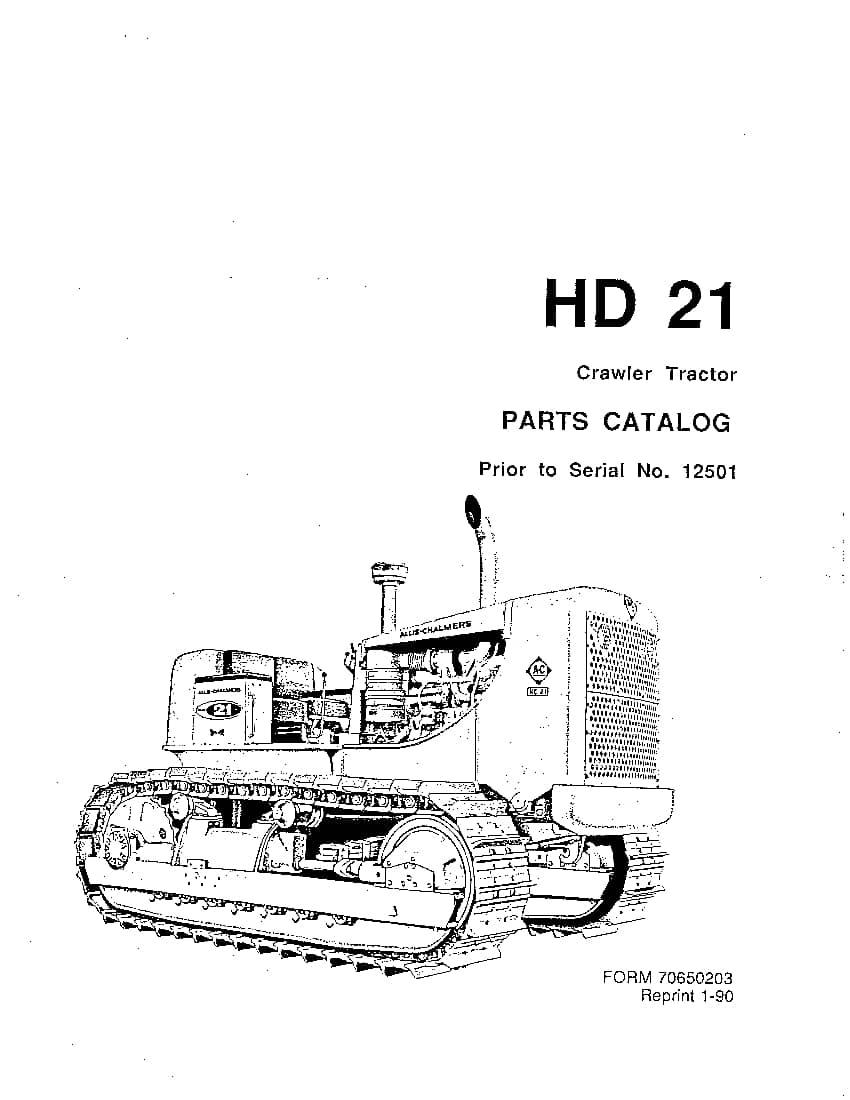 ALLIS CHALMERS FIATALLIS HD21 PRIOR TO SN 12501 CRAWLER