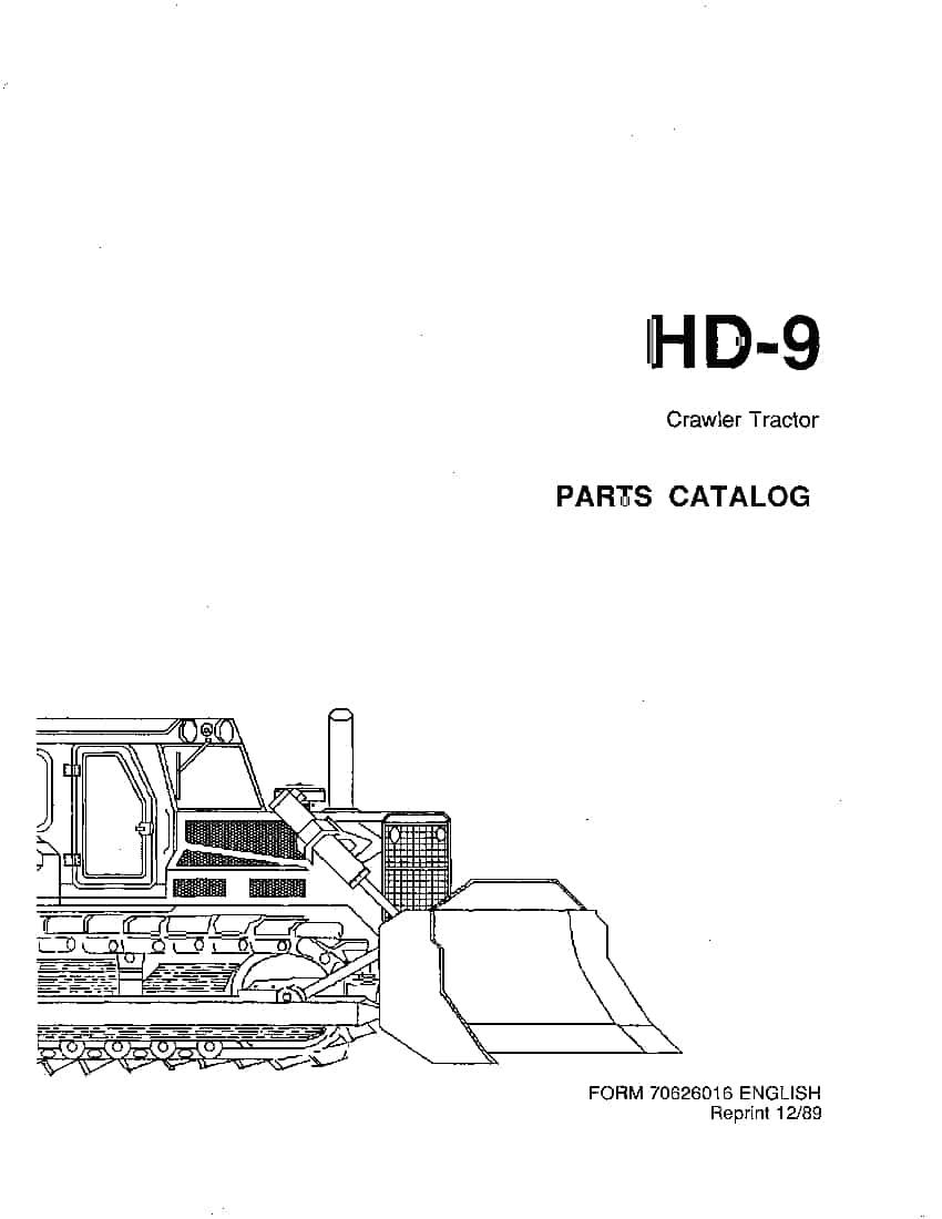 ALLIS CHALMERS FIATALLIS HD9 PM 70626016 CRAWLER DOZER