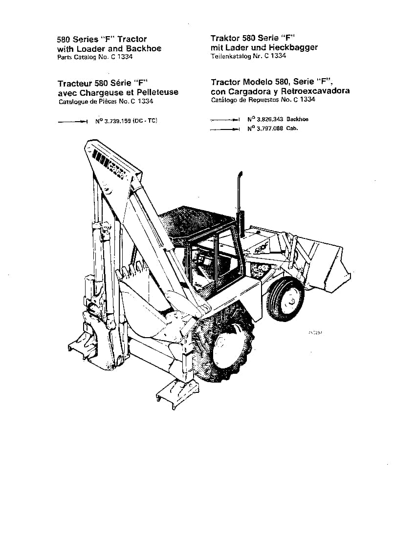 CASE 580F Backhoe Loader Part Manual PDF Download