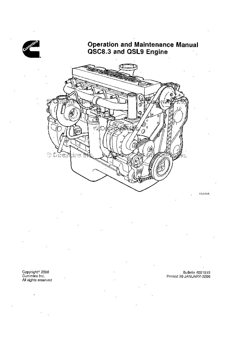 CUMMINS QSC8.3 & QSL9(Tier2) Engine Operation and