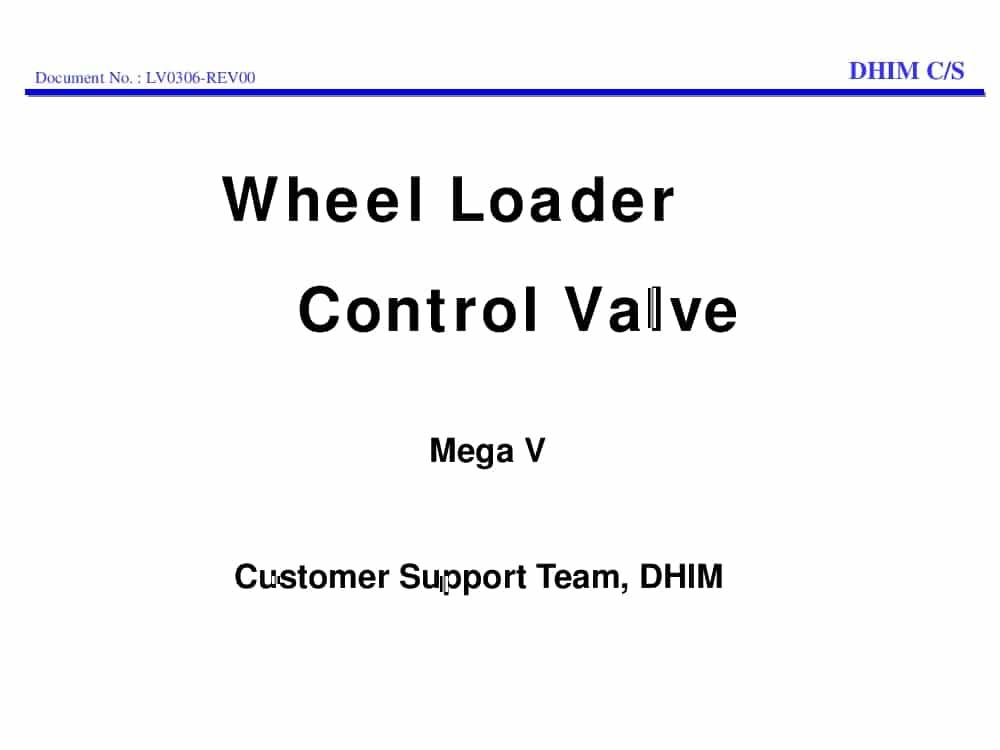 Daewoo Wheel Loader Control Valve Mega V Training PDF