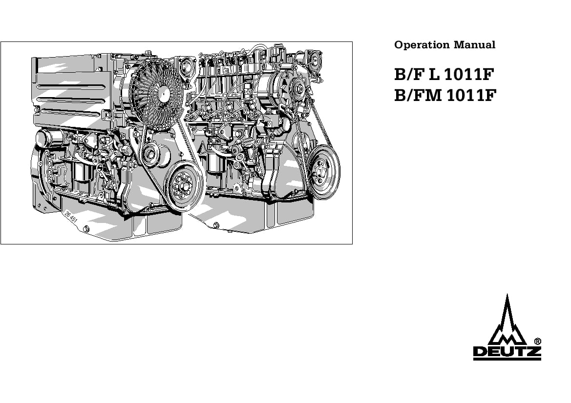 Deutz Engine 1011 Operation And Maintenance Manual PDF