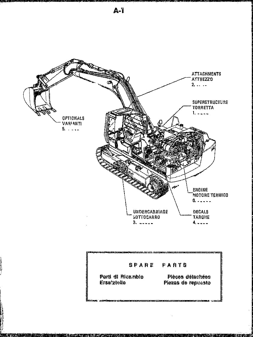 FIAT ALLIS FH200 73157997 PCA-6.110 EXCAVATOR Parts Manual