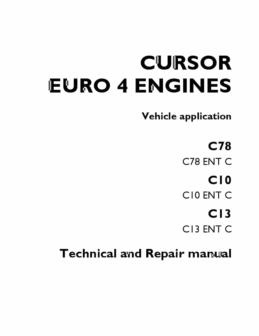IVECO MOTORS CURSOR TIER 3 SERIES C13 TURBOCOMPOUND ENGINE