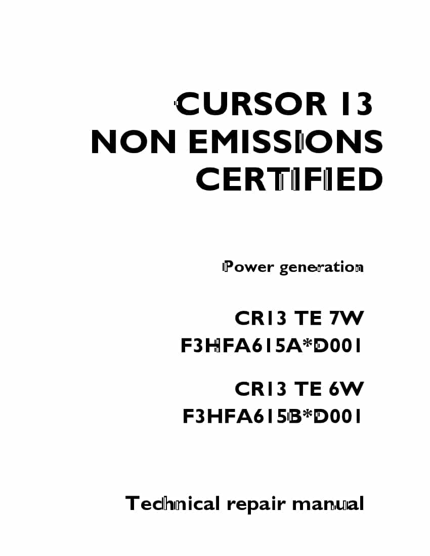 FPT IVECO CURSOR 13 NON EMISSIONS CERTIFIED Power