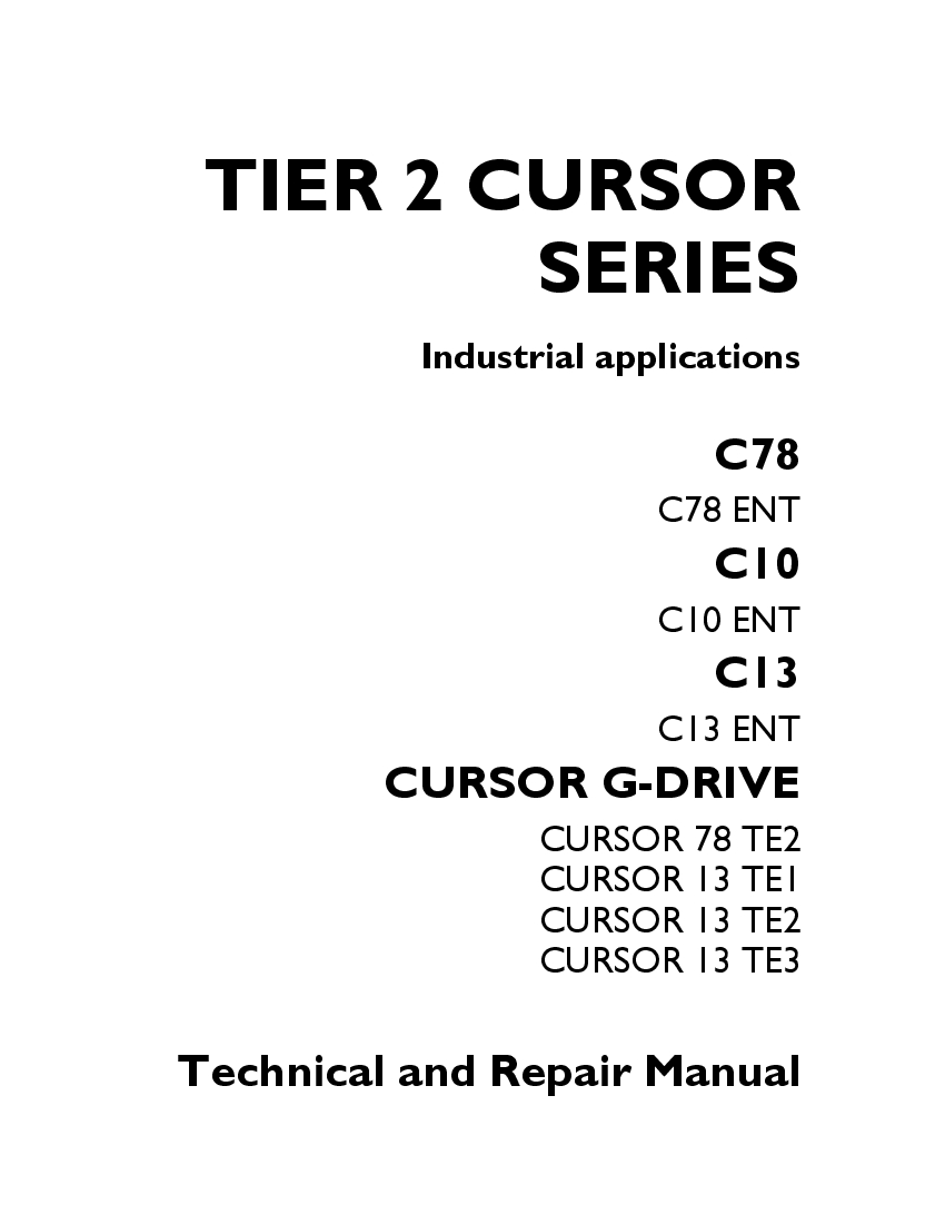 FPT IVECO CURSOR TIER 2 SERIES C78 C10 C13 CURSOR G-DRIVE