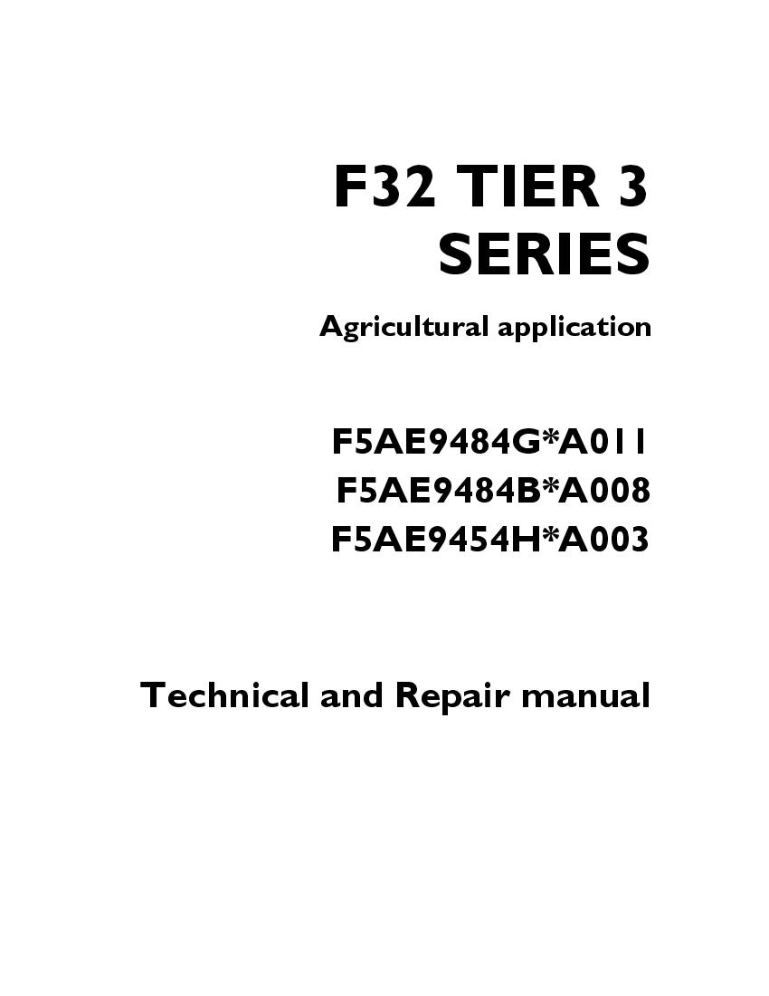 FPT IVECO F32 TIER 3 SERIES F5AE9484G.A011 F5AE9484B.A008