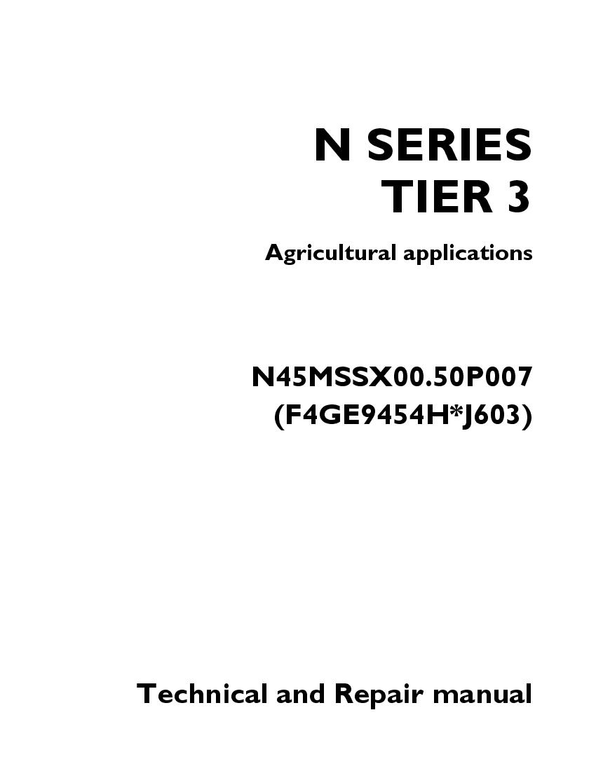 FPT IVECO F4GE N SERIES TIER 3 N45MSSX00.50P007 F4GE9454H