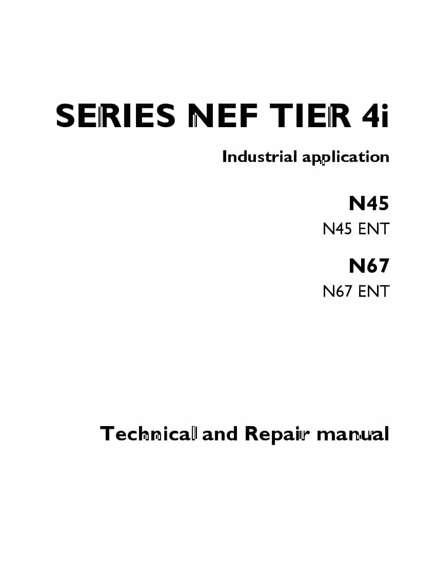 FPT IVECO SERIES NEF TIER 4i N45 N67 Workshop Repair