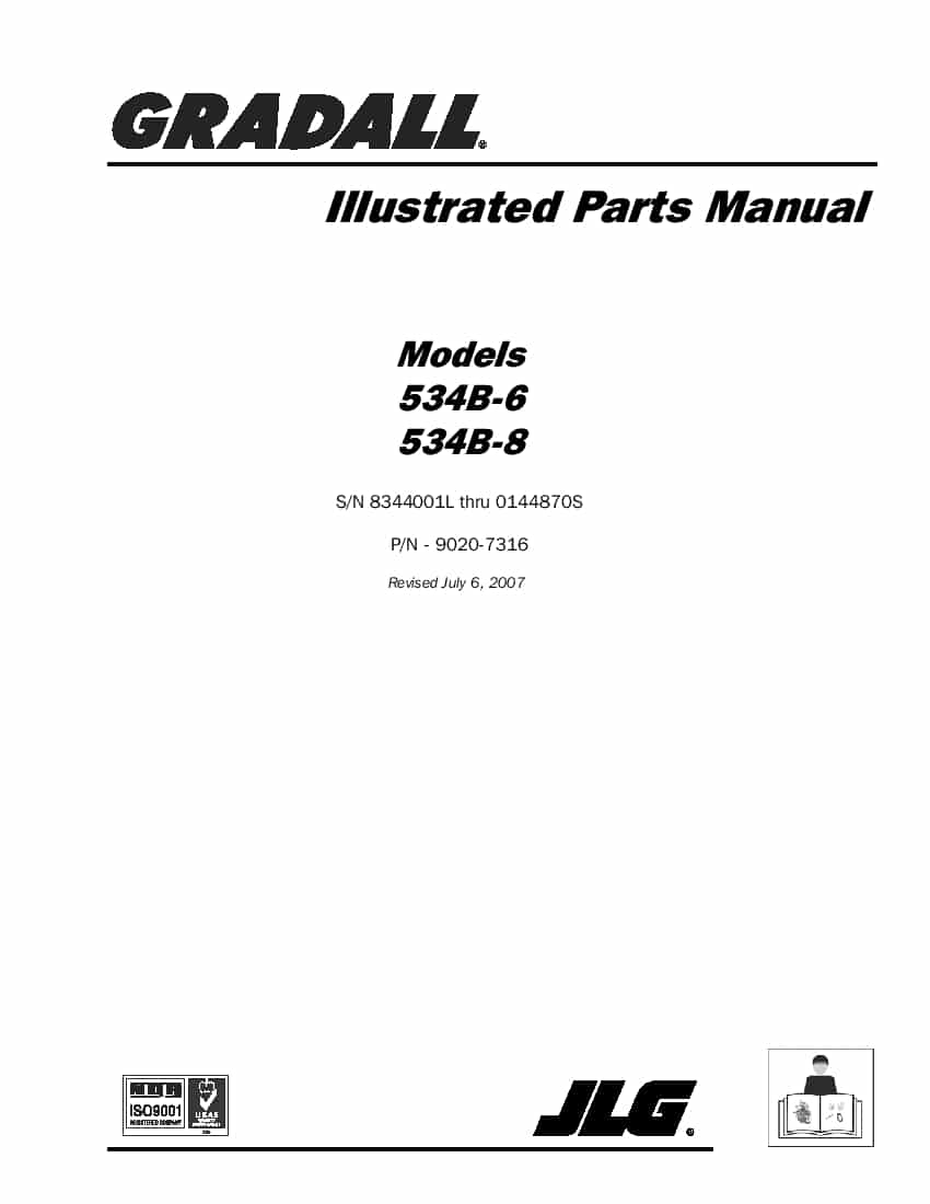 GRADALL (JLG) 532C-6 and 534-C6 Telehandler Parts Manual