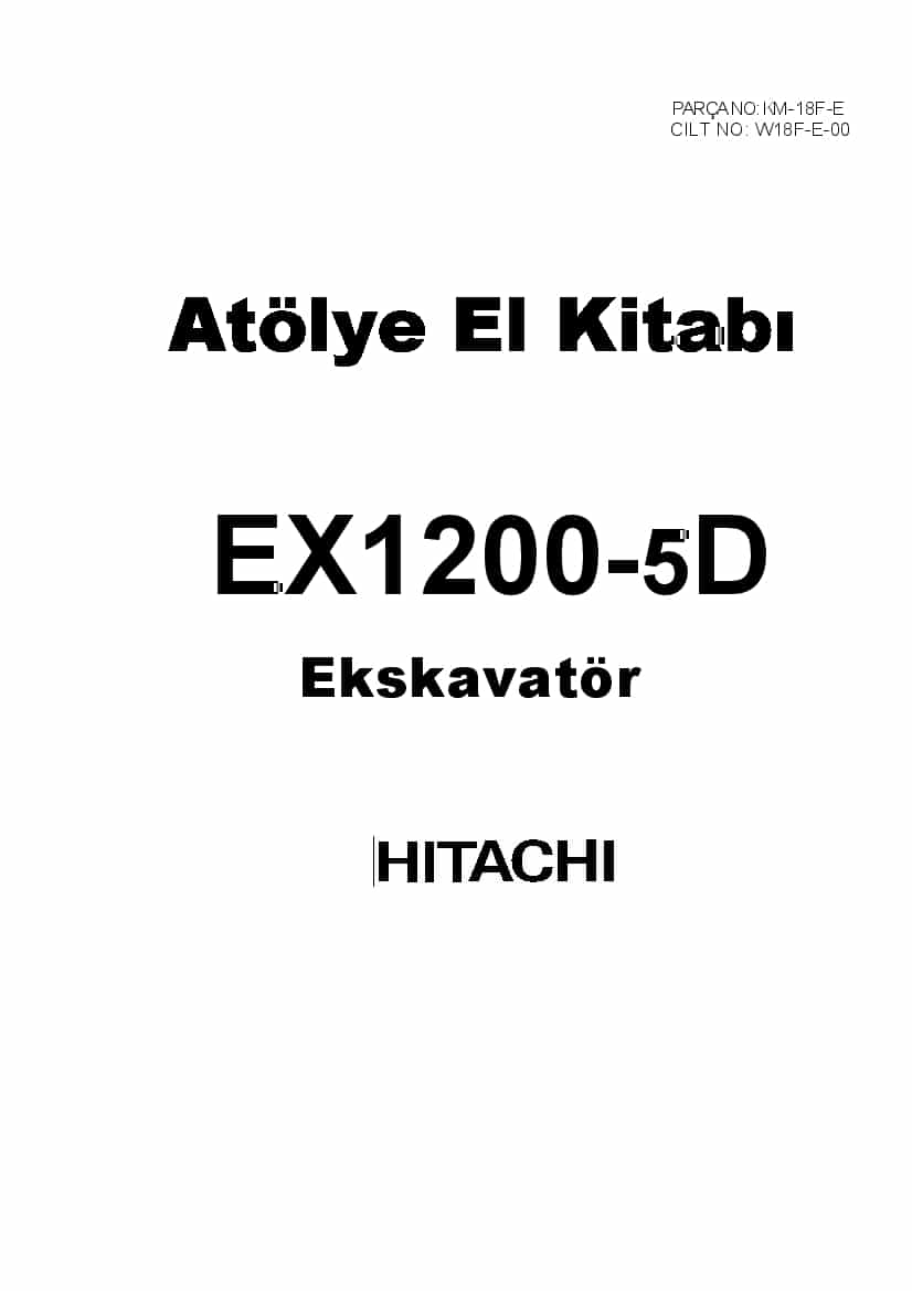 HITACHI EX1200-5D Excavator Workshop Repair Service Manual
