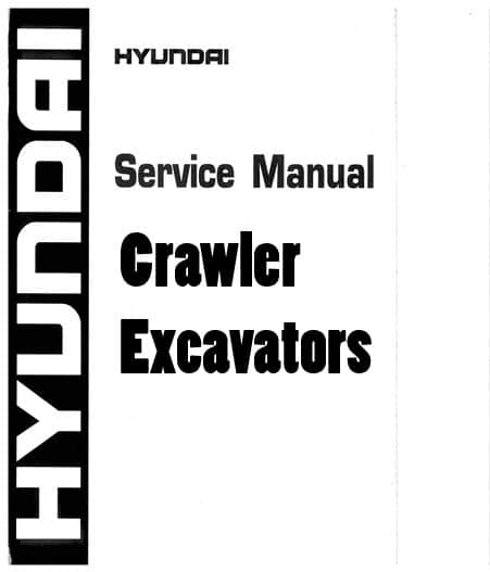 Hyundai R330LC-9SH Robex Crawler Excavators Workshop