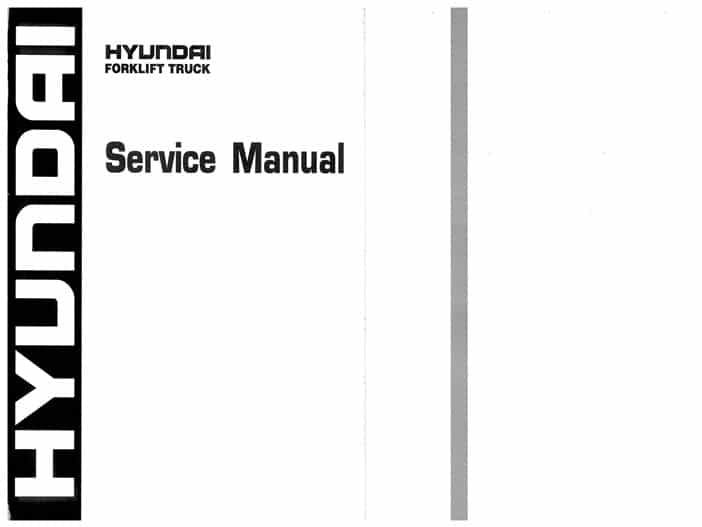Hyundai ForkLift 35 40 45D-9 50DA-9 Workshop Repair