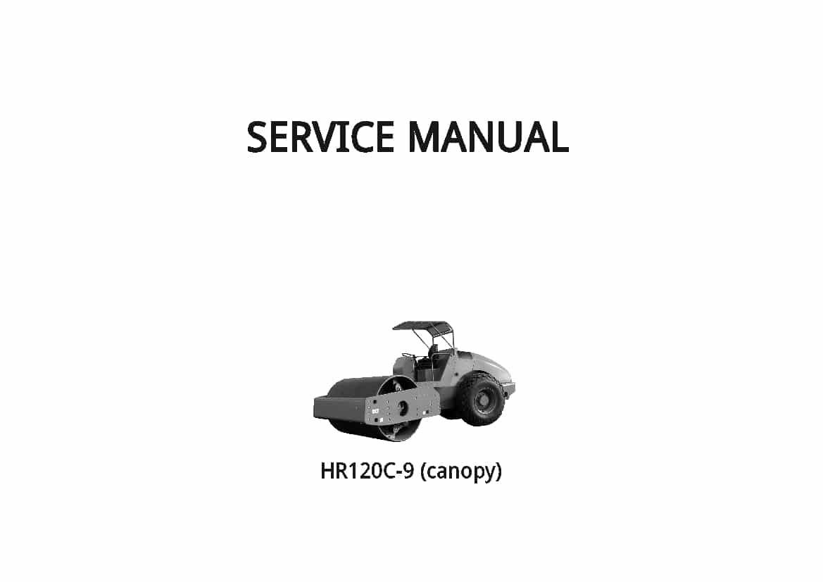 Hyundai HR120C-9 Road Roller Workshop Repair Service