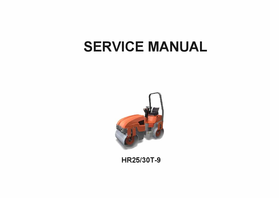 Hyundai HR2530T-9 Road Roller Workshop Repair Service