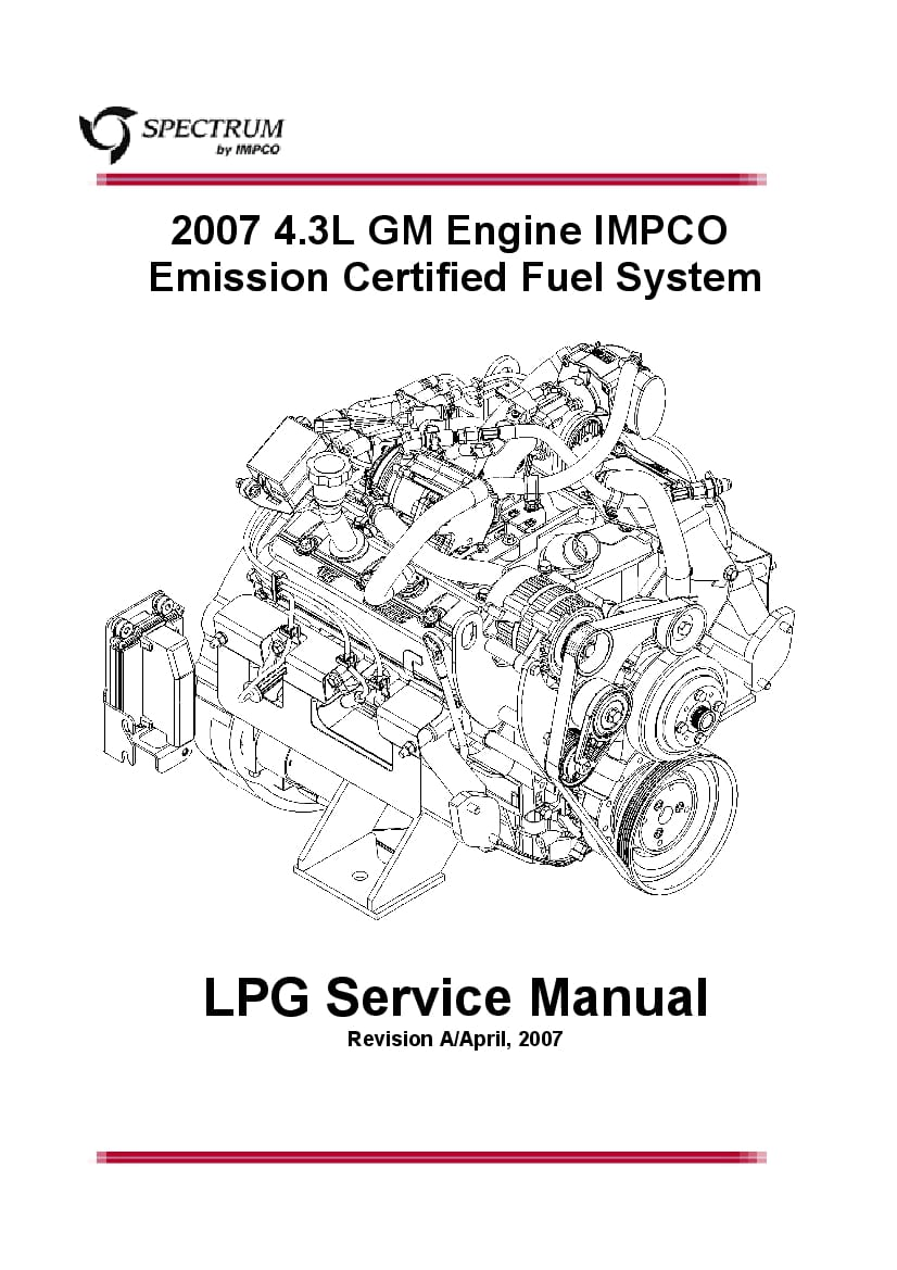 Hyundai IMPCO GM 4.3L Fuel sys engine Workshop Repair